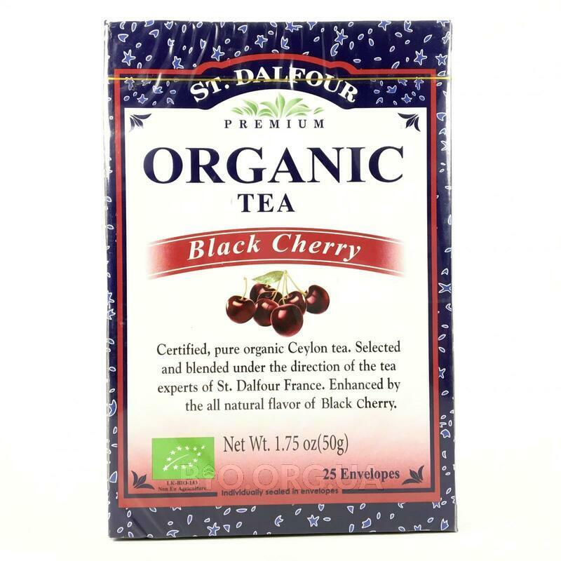 Органический черный чай черная вишня 25 пакетиков фото товара