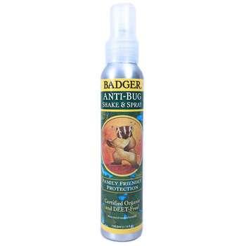 Купить Organic Anti-Bug Shake & Spray 118.3 ml (Badger Спрей від кома...