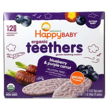 Купить Nurture Inc. Happy Baby Organic Teethers Gentle Teething Wafer...