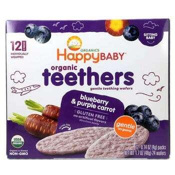 Купить Happy Family Organics Органические нежные вафли для прорезыван...