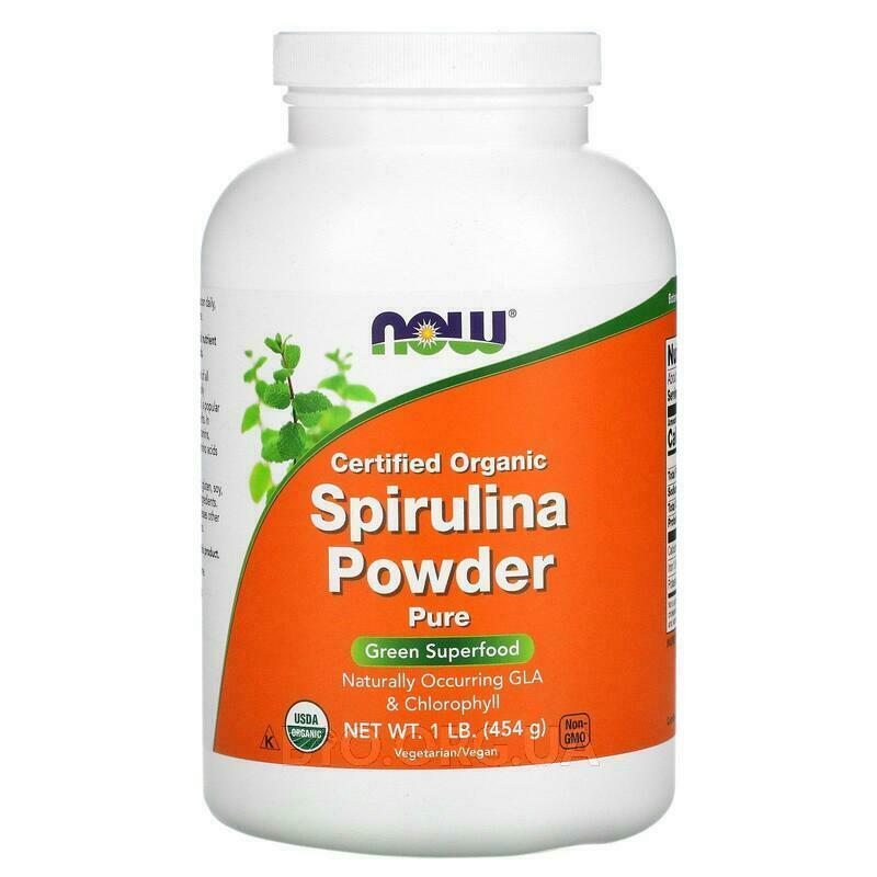 Certified Organic Spirulina Powder 454 g фото товара