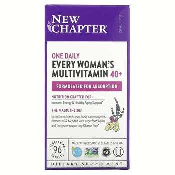 Купить New Chapter 40+ Every Woman's MultiVitamins 96 Tablets