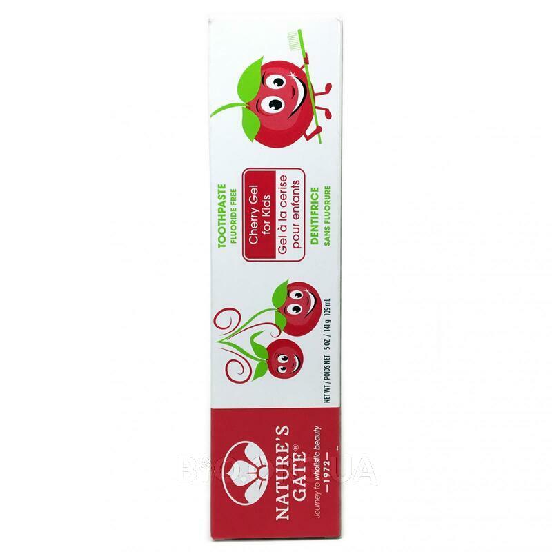 Натуральная зубная паста гель для детей без фтора Вишня 141 г фото товара