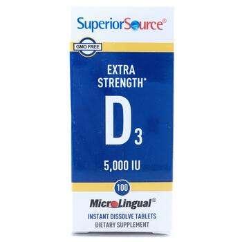 Купить Extra Strength Vitamin D3 5000 IU 100 MicroLingual Instant Dis...