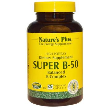 Купить Nature's Plus Super B-50 180 Veggie Caps