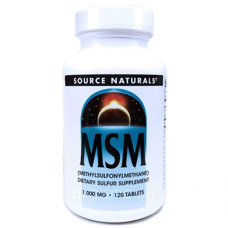 Формула МСМ 1000 мг 120 таблеток фото товара
