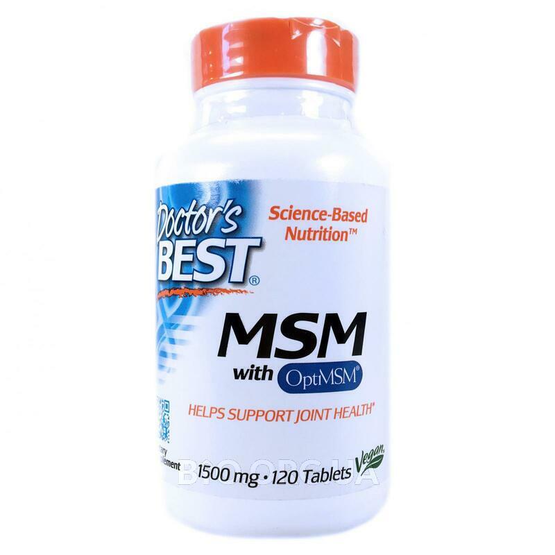 МСМ 1500 мг 120 таблеток фото товара