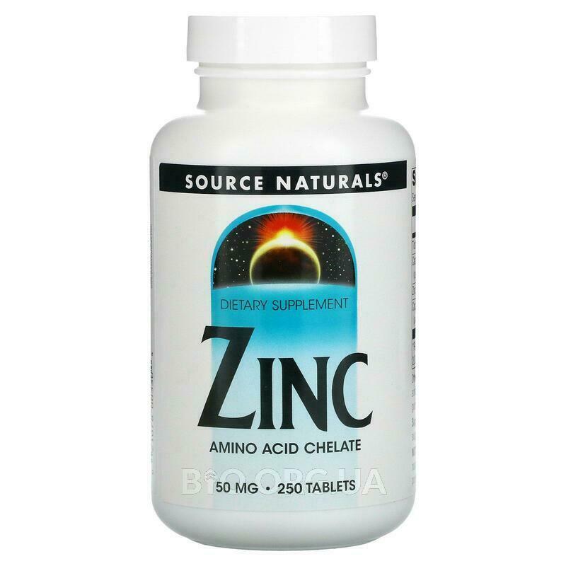 Аминокислотный хелат Цинка и Медь 50 мг 250 таблеток фото товара