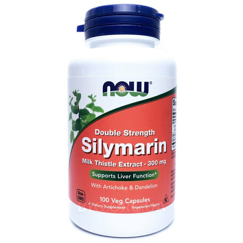 Now Foods Silymarin 300 mg 100 Capsules