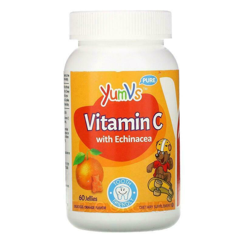 Yum-V's Vitamin C with Echinacea Orange Flavor 60 Jelly Bears