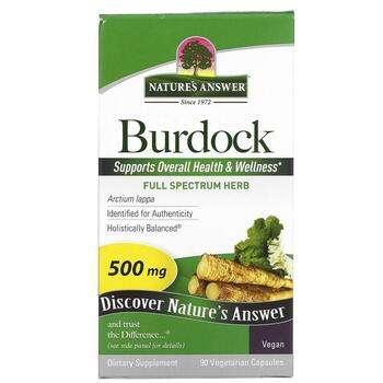 Купить Natures Answer Burdock Full Spectrum Herb 500 mg 90 Veggie Cap...