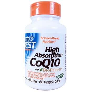 Купить Doctor's Best High Absorption CoQ10 200 mg 60 Veggie Caps