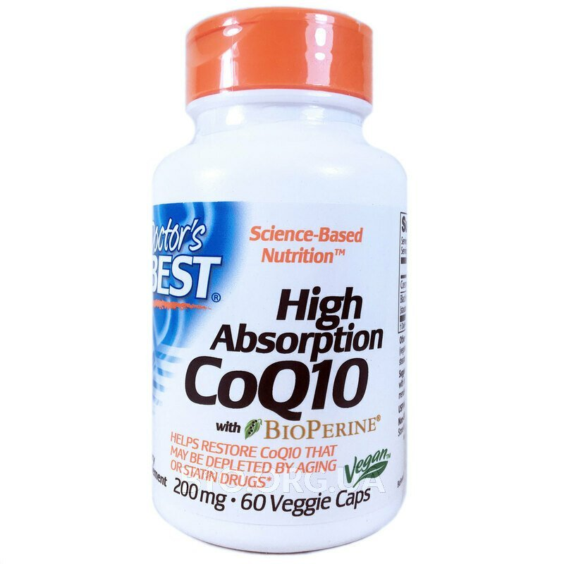 Doctor's Best High Absorption Убихинон CoQ10 200 мг 60 вег... фото товара