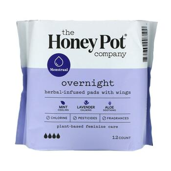 Купить Herbal-Infused Pads with Wings Overnight 12 Count