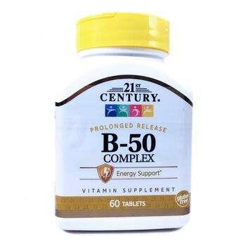 Купить 21st Century B-50 Complex Prolonged Release 60 Tablets