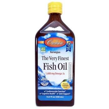 Купить Norwegian The Very Finest Fish Oil Natural Lemon Flavor 500 ml