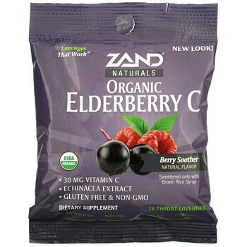 Купить Zand Organic Elderberry C Berry Soother 18 Throat Lozenges