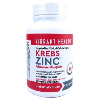 Купить Vibrant Health Krebs Zinc 60 Veggie Caps