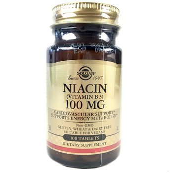 Купить Solgar Niacin Vitamin B3 100 mg 100 Tablets