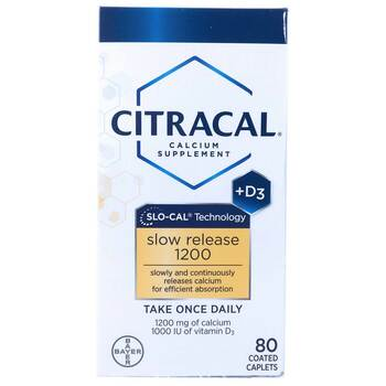 Купить Calcium Supplement Slow Release 1200 + D3 80 Coated Tablets ( ...