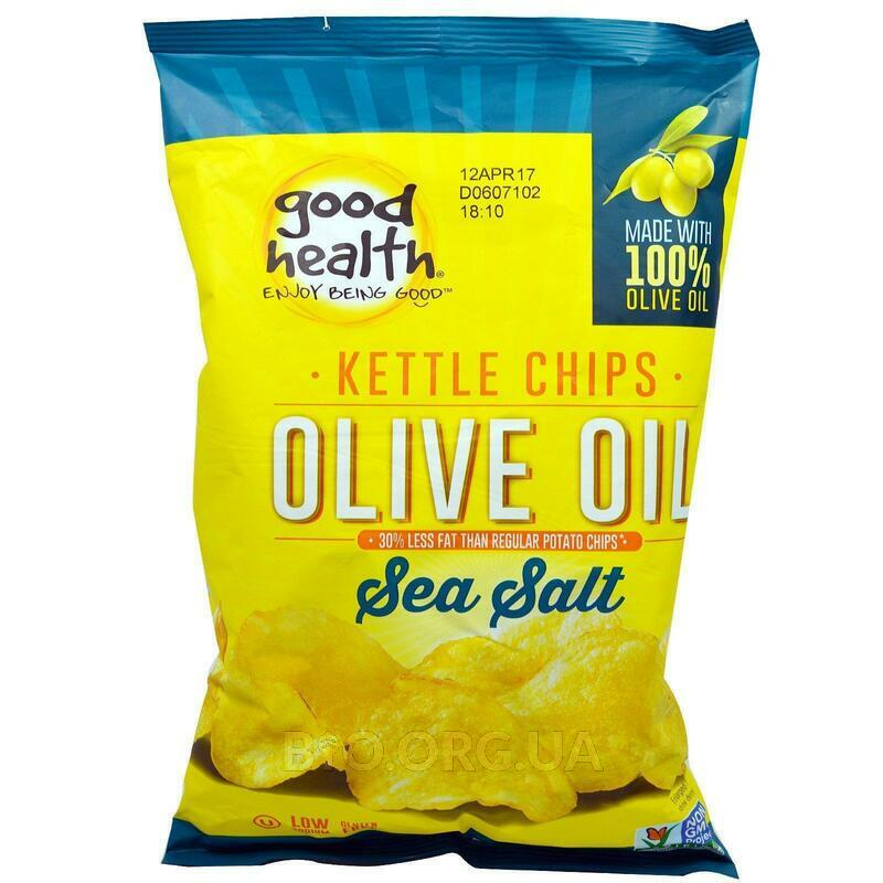 Good Health Natural Foods Kettle Style Chips Olive Oil Sea Salt 141.7 g