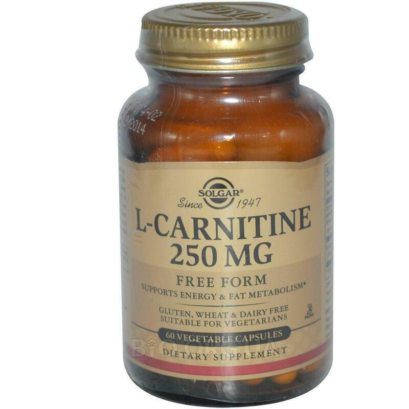 L Carnitine 250 mg 60 Veggie Caps фото товара