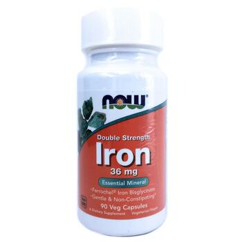 Купить Iron Double Strength 36 mg 90 Veg Capsules ( Залізо подвійний ...