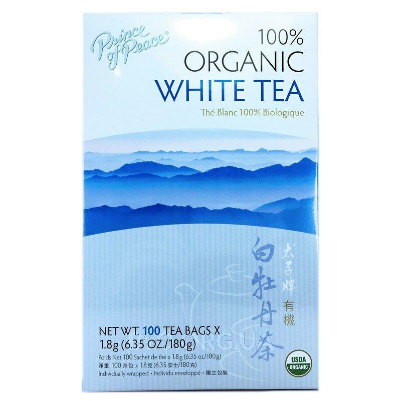 100% Органический Белый чай 100 пакетиков 1.8 г каждый фото товара