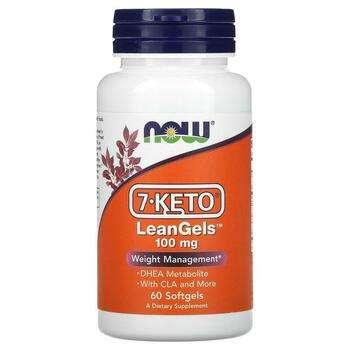 Купить Now Foods 7 Keto LeanGels Weight Management 100 mg 60 Softgels