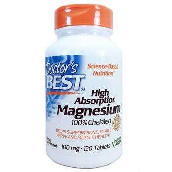Купить High Absorption Magnesium 100% Chelated 120 Tablets