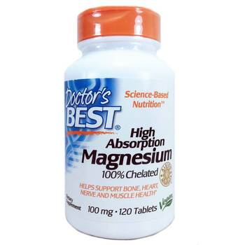 Купить Doctor's Best Magnesium High Absorption 100 Chelated 120 Tablets