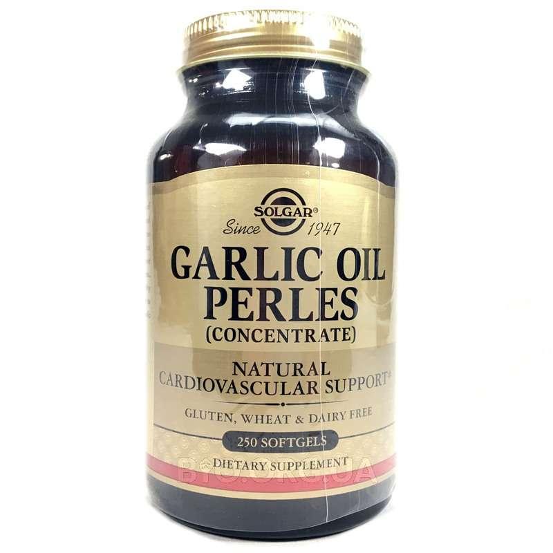 Чесночное масло концентрат 250 гелевых капсул фото товара
