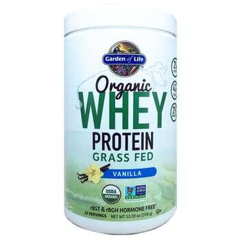 Купить Garden of Life Organic Whey Protein Grass Fed Vanilla 1 378 g