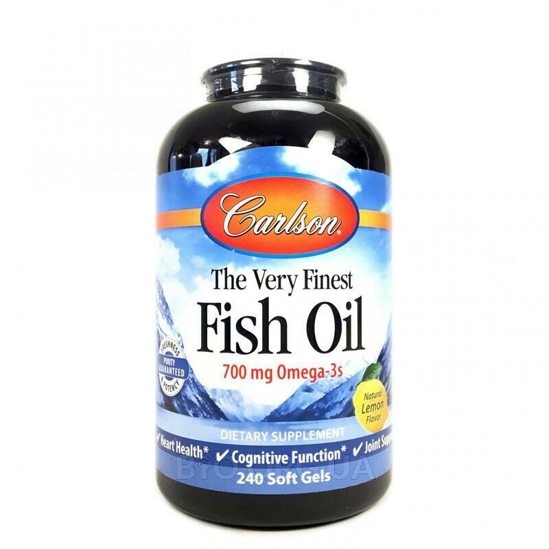Рыбий жир с натуральным лимонным вкусом 240 капсул фото товара
