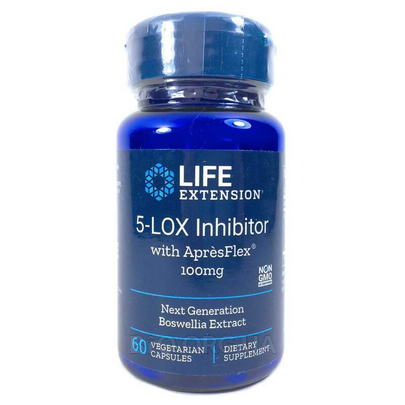 5-Lox Ингибитор с ApresFlex 100 мг 60 вегетарианских капсул фото товара