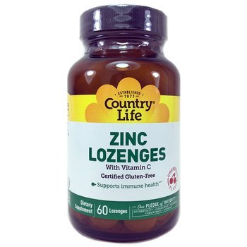 Купить Zinc Lozenges with Vitamin C Cherry Flavor 60 Lozenges (Льодян...