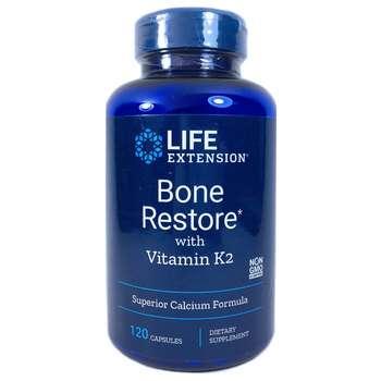 Купить Life Extension Bone Restore with Vitamin K2 120 Capsules