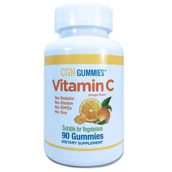 Купить Vitamin C Gummies Gluten-Free Non GMO No Gelatin Natural Orang...