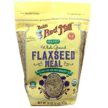 Купить Organic Flaxseed Meal Whole Ground 453 g