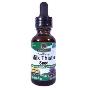 Купить Nature's Answer Milk Thistle Seed Alcohol-Free 2000 mg 30 ml