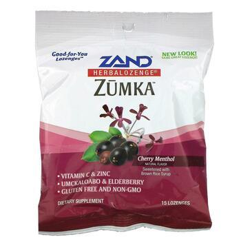 Купить Zand Zumka Herbalozenge Cherry Menthol Flavor 15 Homeopathic L...