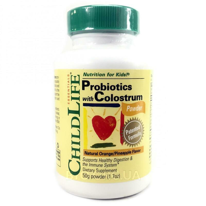 Чайлд Лайф Пробиотики с молозивом в порошке натуральный апельс... фото товара