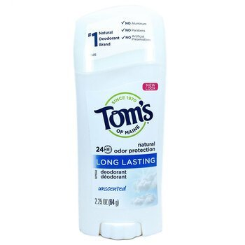 Купить Natural Long-Lasting Deodorant Unscented 64 g (Toms of Maine Д...