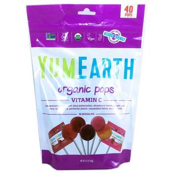 Купить Organic Pops Vitamin C Assorted Flavors 40 Pops 8 241 g (Орган...
