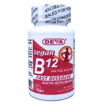 Купить Deva Vegan B12 Sublingual 90 Tablets