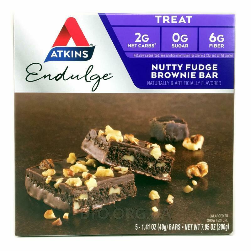 Аткинс Шоколадный торт с орехами 5 батончиков 40 г каждый фото товара