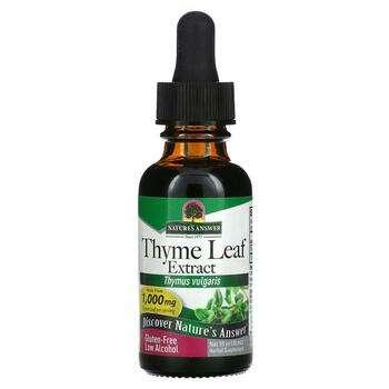 Купить Natures Answer Thyme Low Alcohol 1000 mg 30 ml (Нейчералс ансв...