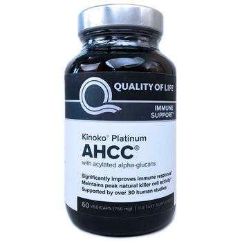 Купить Kinoko Platinum AHCC 750 mg with Alpha-Glucans 60 VegiCaps