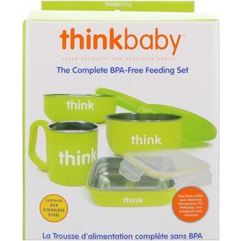 Купить Think Thinkbaby The Complete BPA-Free Feeding Set Light Green ...