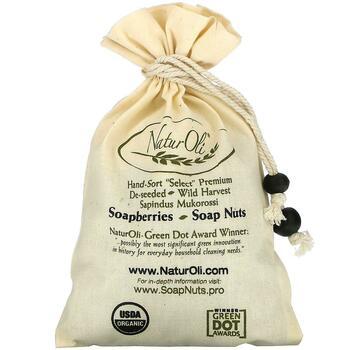Купить Organic Hand-Sort Select Soap Nuts With 1 Muslin Drawstring Bag
